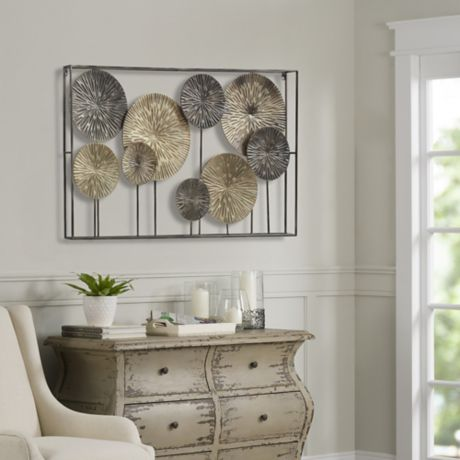 Art metal dandelions wall decor bed bath beyond - Decorating walls with pictures ...