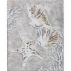 Glitter Seashells  Canvas Wall Art
