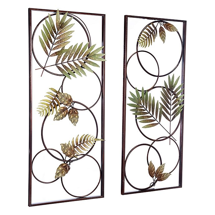 Kitchen Wall Decor Bed Bath And Beyond: Zuo® Modern Recife 15-Inch X 35.5-Inch Metal Wall Art (Set
