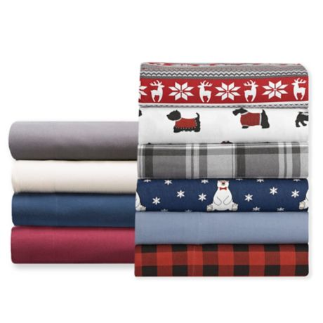 Winter Nights Flannel Sheet Set Bed Bath Beyond