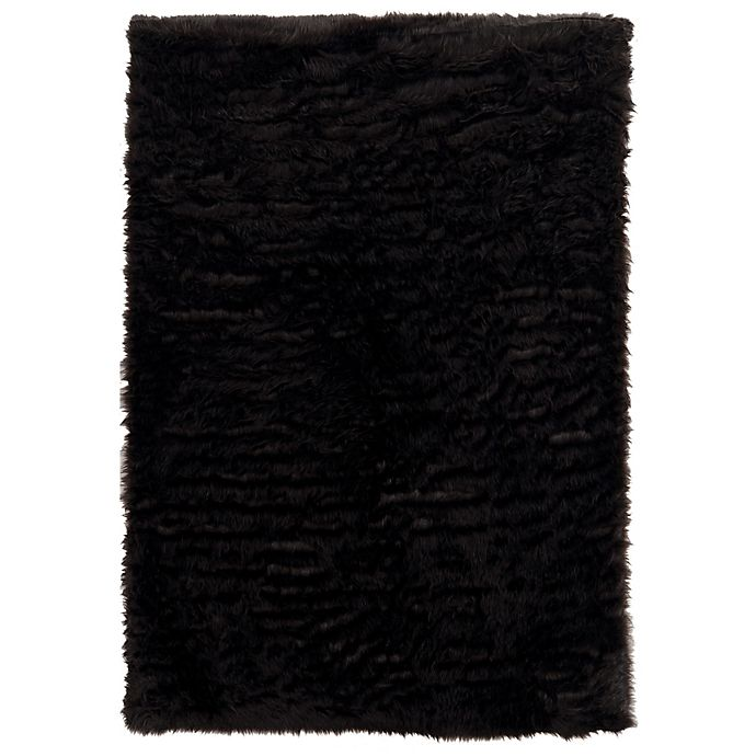 Alternate image 1 for Linon Home Faux Sheepskin 3-Foot x 5-Foot Area Rug in Brown