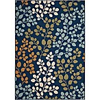 Nourison Caribbean Indoor/Outdoor 7'10  x 10'6  Area Rug in Navy