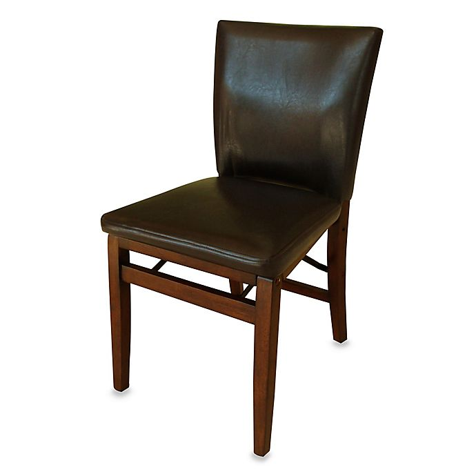 Harper Folding Chair In Dark Brown Bed Bath And Beyond