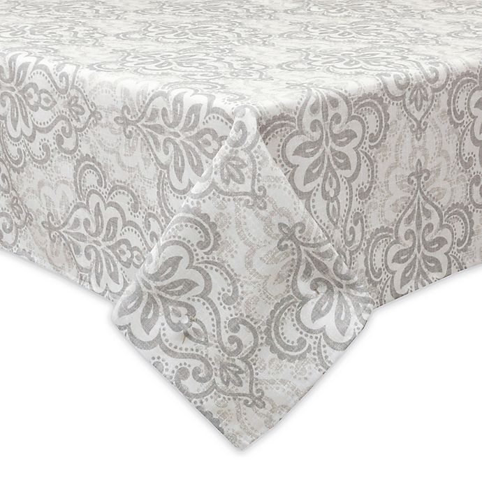 Alternate image 1 for Bardwil Linens Carina 60-Inch x 120-Inch Indoor/Outdoor Tablecloth with Umbrella Hole