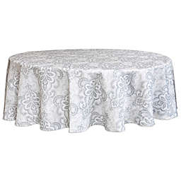 Destination Summer Carina 70-Inch Round Indoor/Outdoor Tablecloth with Umbrella Hole