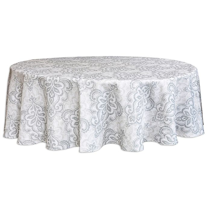 Alternate image 1 for Destination Summer Carina 70-Inch Round Indoor/Outdoor Tablecloth with Umbrella Hole