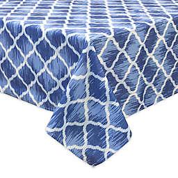 Bardwil Linens Indigo Trellis Indoor/Outdoor Tablecloth