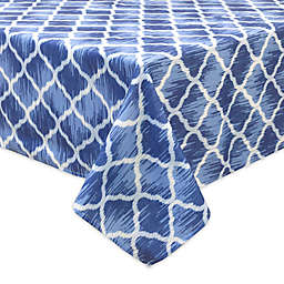Bardwil Linens Indigo Trellis Indoor/Outdoor Tablecloth