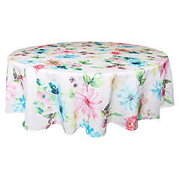Bardwil Linens Floral Garden 70-Inch Round Tablecloth