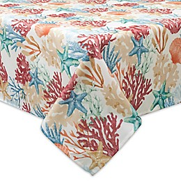 Bardwil Linens Coral Oasis Indoor/Outdoor Tablecloth