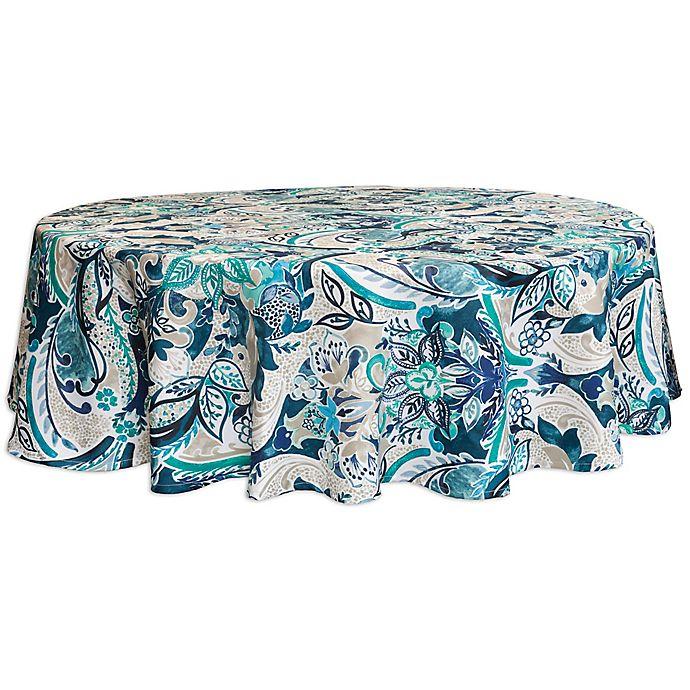 Alternate image 1 for Bardwil Linens Tasha 70-Inch Round Umbrella Indoor/Outdoor Tablecloths with Umbrella Hole