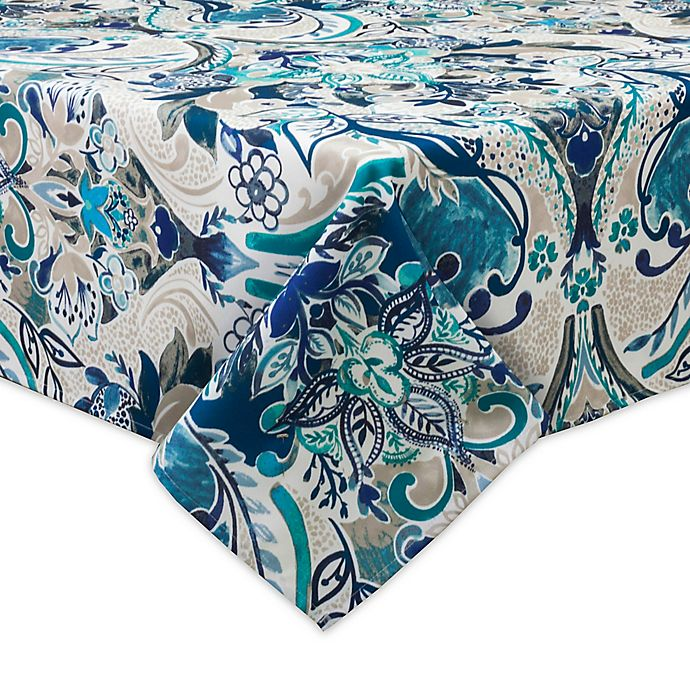Alternate image 1 for Destination Summer Tasha 60-Inch x 120-Inch Indoor/Outdoor Tablecloth with Umbrella Hole