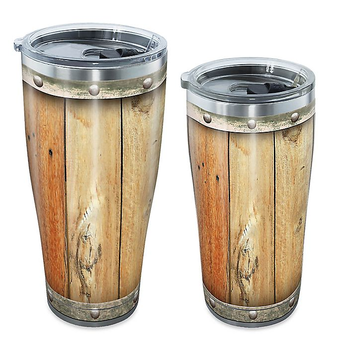 Alternate image 1 for Tervis® Wood Barrel Stainless Steel Tumbler with Lid