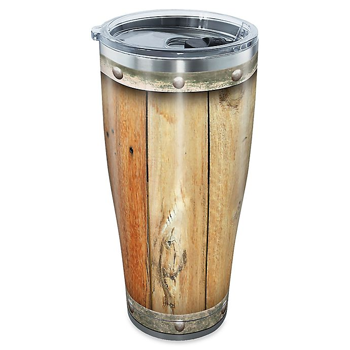 Alternate image 1 for Tervis® Wood Barrel 30 oz. Stainless Steel Tumbler with Lid