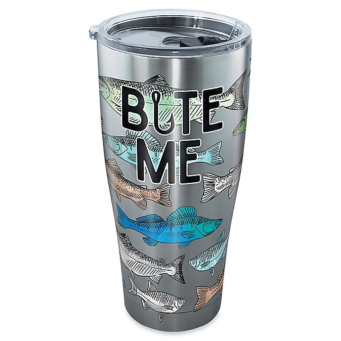 Alternate image 1 for Tervis® Bite Me Bait 30 oz. Stainless Steel Tumbler with Lid