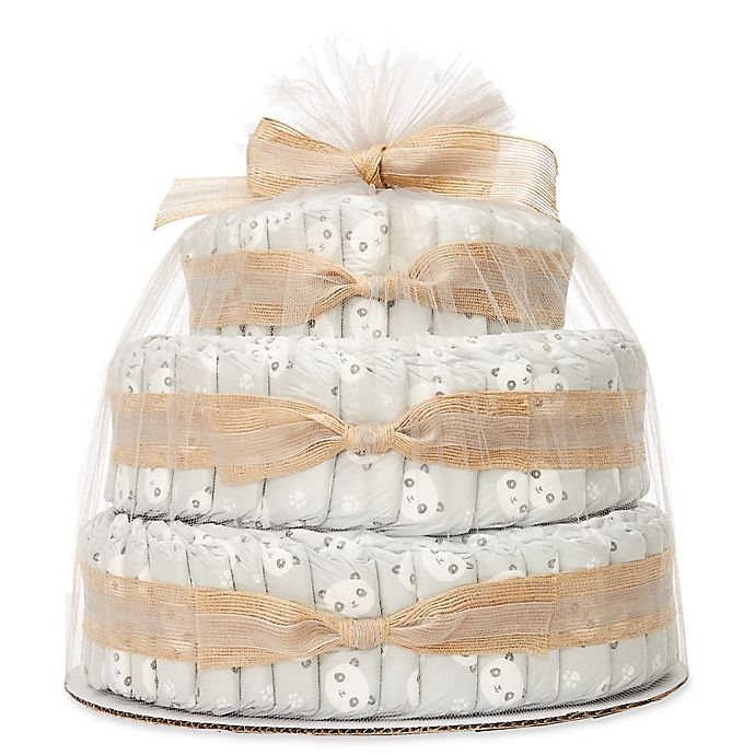 Alternate image 1 for Honest® Diaper Cakes Collection in Panda Pattern