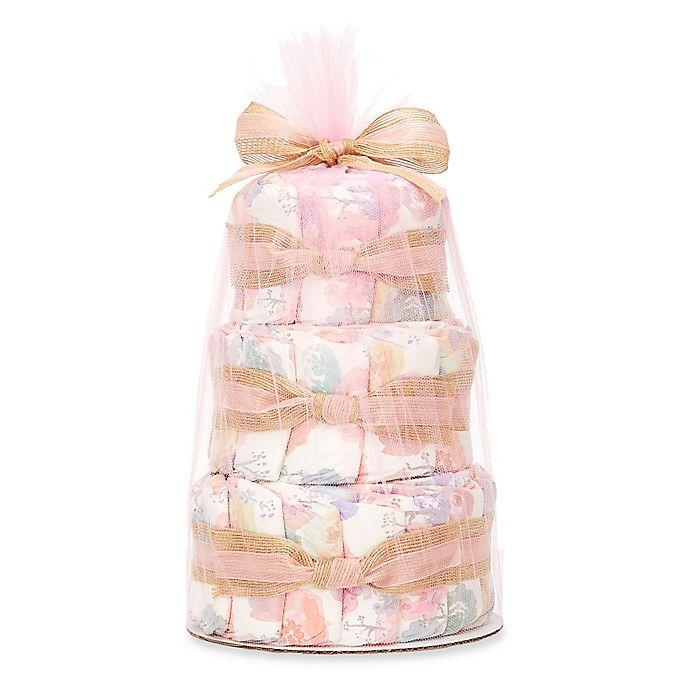 Alternate image 1 for Honest® Small Diaper Cakes in Rose Blossom Pattern