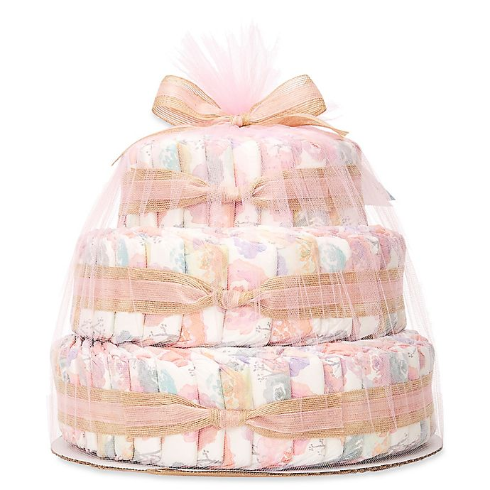 Alternate image 1 for Honest® Diaper Cakes Collection in Rose Blossom Pattern