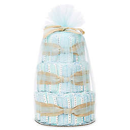 Honest® Small Diaper Cakes in Teal Tribal Pattern