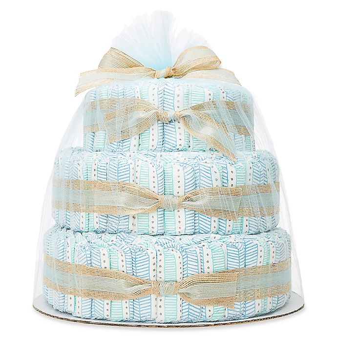 Alternate image 1 for Honest® Diaper Cakes Collection in Teal Tribal Pattern