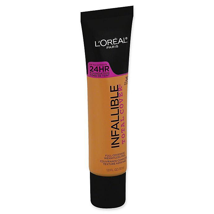 Alternate image 1 for L'Oréal® Infallible Total Cover™ 1 fl. oz. Foundation in Carmel Beige