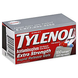 Tylenol® Extra Strength 100-Count 500 mg Pain Reliever Fever Rapid Release Reducer GelCaps
