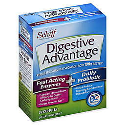Digestive Advantage® 32-Count Fast Acting Enzymes + Daily Probiotic Capsules