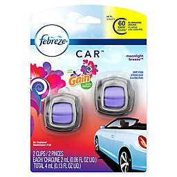 Febreze® CAR™ 2-Count .06 fl. oz. Moonlight Breeze with Gain Vent Clip Air Freshener
