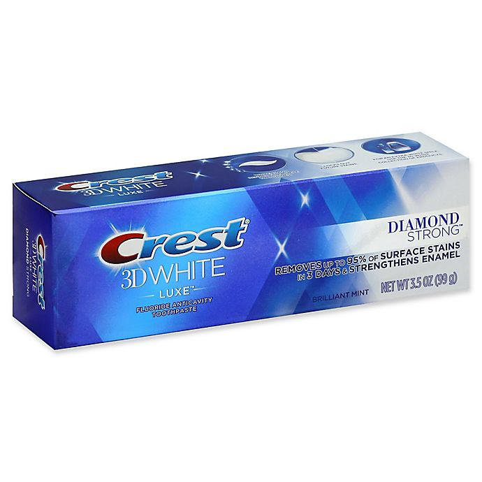 Alternate image 1 for Crest® 3D White Luxe 3.5 oz. Diamond Strong Fluoride Anticavity Toothpaste in Brilliant Mint