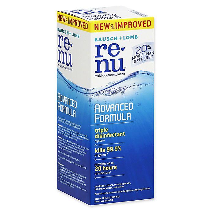 Alternate image 1 for Bausch+ Lomb Renu® 12 fl. oz. Advanced Formula Multi-Purpose Solution