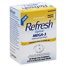 Refresh Optive® 30-Count Mega-3 Lubricant Eye Drops .01 fl. oz. Single-Use Containers