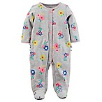 carter's® Size 9M Snap-Up Floral Sleep & Play Footie in Grey