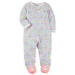 carter's® Snap-Up Sleep & Play Floral Footie in White
