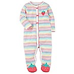 carter's® Size 9M Strawberry Sleep and Play Snap-Up Footie in Pink
