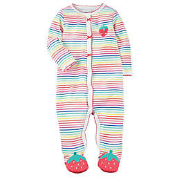carter's® Strawberry Sleep and Play Snap-Up Footie in Pink