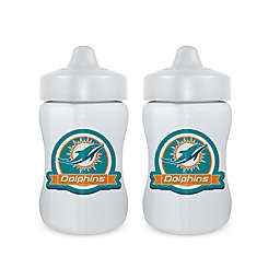 Baby Fanatic® NFL Miami Dolphins 9 oz. Sippy Cups in Blue/Orange (Set of 2)