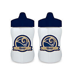 Baby Fanatic® NFL Los Angeles Rams 9 oz. Sippy Cups in Blue/Gold (Set of 2)