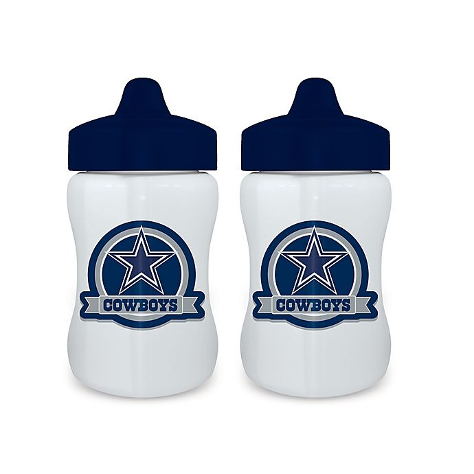 9630574917f Baby Fanatic® NFL Dallas Cowboys 9 oz. Sippy Cups in Blue/Grey (Set of 2)