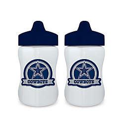 Baby Fanatic® NFL Dallas Cowboys 9 oz. Sippy Cups in Blue/Grey (Set of 2)