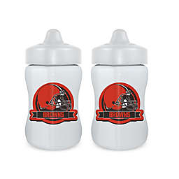 Baby Fanatic® NFL Cleveland Browns 9 oz. Sippy Cups in Orange/Brown (Set of 2)