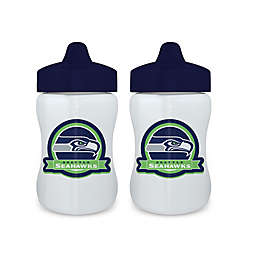 Baby Fanatic® NFL Seattle Seahawks 9 oz. Sippy Cups in Blue/Green (Set of 2)