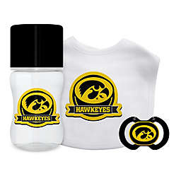 Baby Fanatic® University of Iowa 3-Piece Gift Set in Black/Yellow