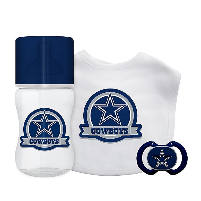 Alternate image 1 for Baby Fanatic® NFL Dallas Cowboys 3-Piece Gift Set in Silver