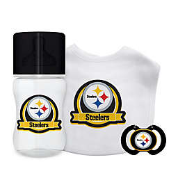 Baby Fanatic® NFL Pittsburgh Steelers 3-Piece Gift Set in Black