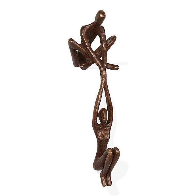 Alternate image 1 for Danya B. Man Lifting Woman from Ledge Bronze Sculpture