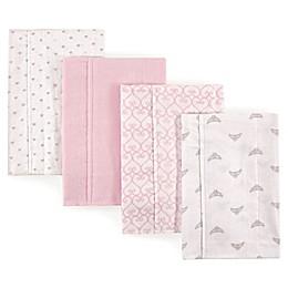 Luvable Friends® 4-Pack Burp Cloth Set