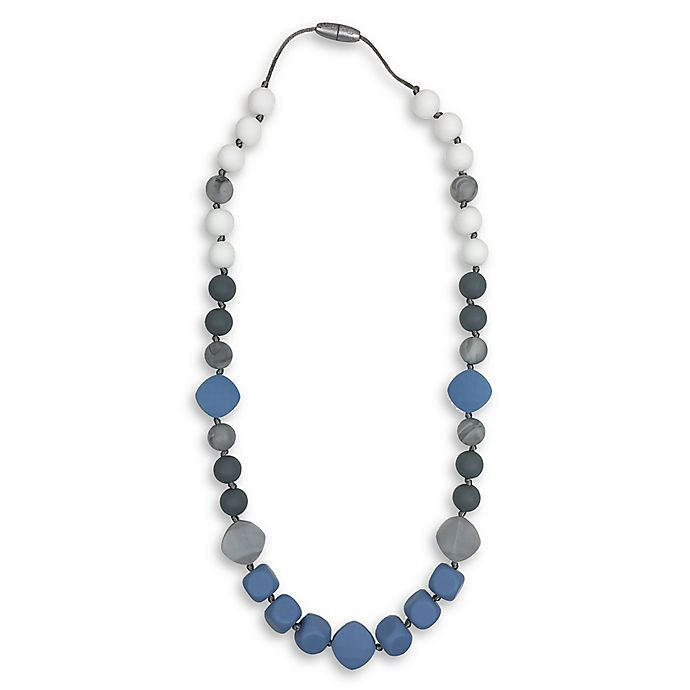 Alternate image 1 for Itzy Ritzy® Teething Happens™ Chewable Silicone Mom Jewelry Teether Necklace