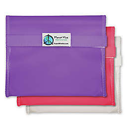 Planet Wise™ Reusable Sandwich Bags in Pink/Purple (Set of 3)