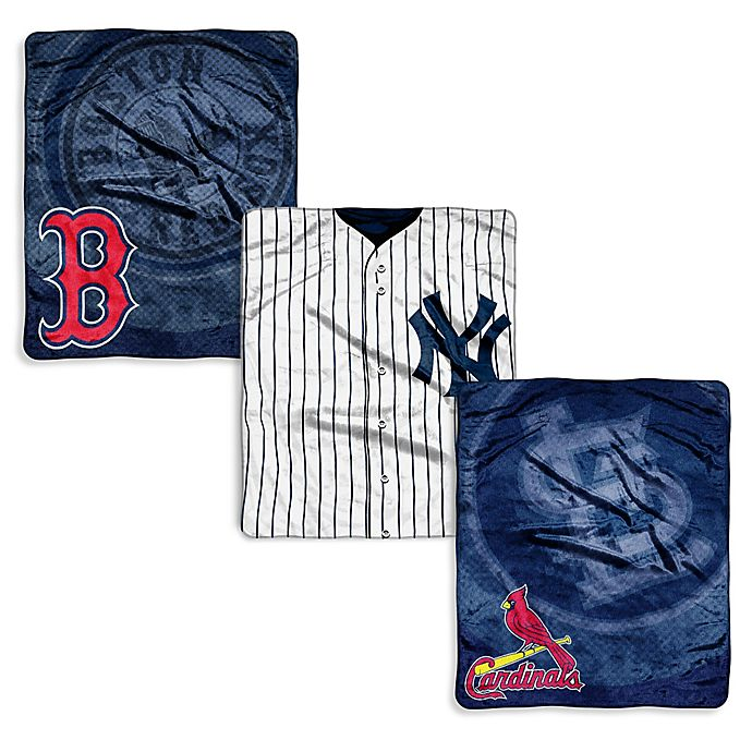 Alternate image 1 for MLB Jersey Raschel Throw Blanket