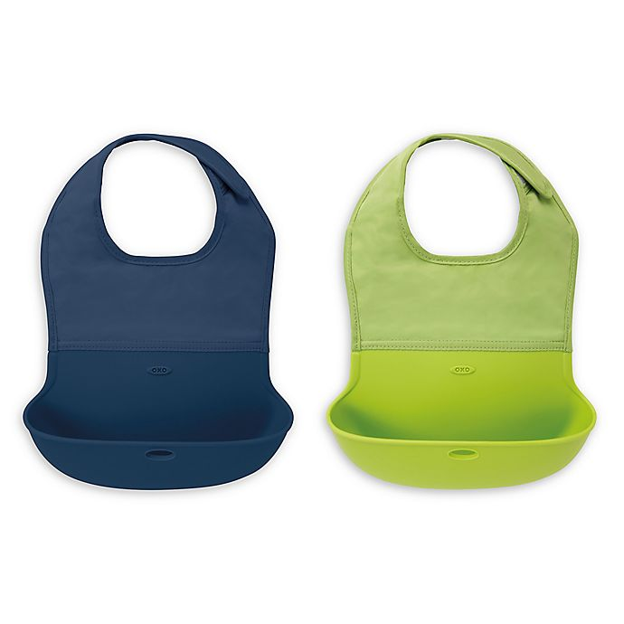 Alternate image 1 for OXO Tot® 2-Pack Roll Up Bibs
